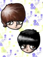 johnandpaul heads by greenlikethesky