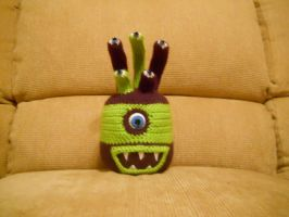 Green and Purple Beholder monster by onlyRa