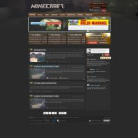 Minecraft webdesign PSD by rEspaWn16