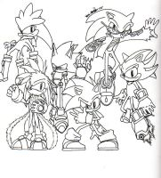 Five hedgehogs and a porcupine by sonicbommer