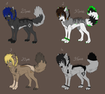 Scene Wolves Adoptable! OPEN! by npw-adopts