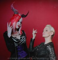 Countess Grotesque and Rose McGowen by Countess-Grotesque