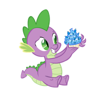 Spike's Birthday Cupcake by star-burn