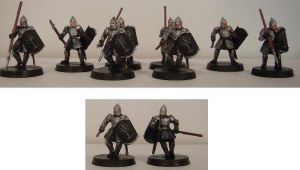 Gondorian Spearmen by Bladefinger
