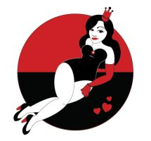 Queen of Hearts Pinup by JStiletto