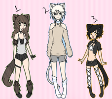 (CLOSED) Point Adoptables: Cats by Cutekokoro