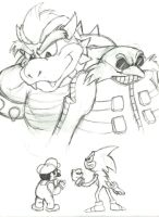 Robotnik and Bowser team up by drakered