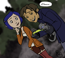 Coraline and Wybie older by rachelo