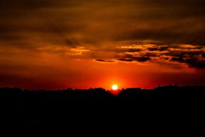 Late summer sunset in Wuppertal by Janszoon