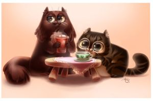 Cookie and Minou by NatSmall