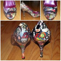 Comicbook Print High Heels 2 by Lizzie-Leeches