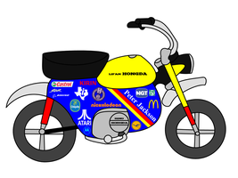 My Lifan Hongda monkey bike design by dev-catscratch