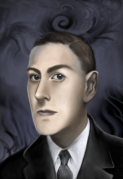 h.p lovecraft by Leen-galeas