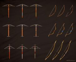 Ranged weapons for flash game Knight and Samurai by Vadich