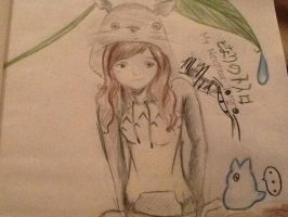 Totoro drawing by CherryRosePainter