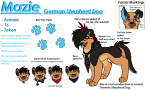 Updated Mazie Reference by AJ-Shep