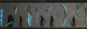 Weapon set Lineage 2 Tears of the goddess by Urchina