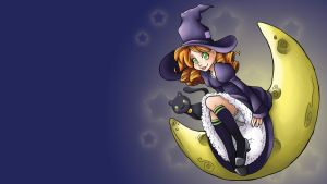 Lunar Witch Wallpaper by Jellyfish-Station