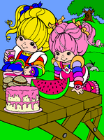 Tickled Pink and Rainbow Brite by Shy-Anne