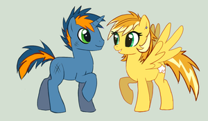 Rin and Ash pony ref by VengefulSpirits