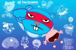 Happy Tree Friends Brushes by free-brushes