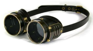 Brass Goggles with ventilation slots by AmbassadorMann