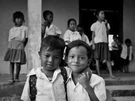 Best friends in Cambodia by lux69aeterna