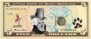 The Ankh-Morpork Five Dollar Bill by AgProv