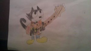 Felix the Cat Guitar Pack 1 by Ryanbugsbunny