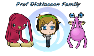 PewDie, Prof Dickinson and Son by anineko