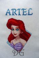 Ariel (Kingdom Hearts) embroidery by didi-gemini
