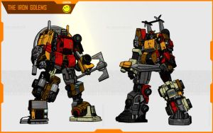 THE IRON GOLEMS by F-for-feasant-design