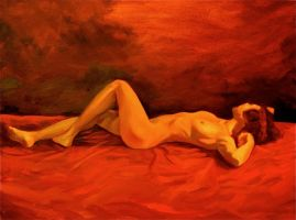reclining nude Dec 2010 by humblestudent