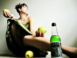 Jones Soda: Green Apple.2 by deathbyastaplegun