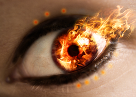 Eyes on Fire by yuukki