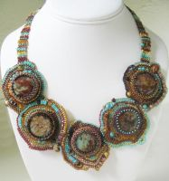 Crazy Quilt Necklace by Bev-Choy