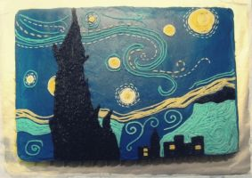 Starry Night Cake by Adonenniel