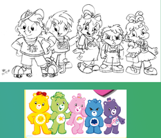 Humanized Care Bears group by spongefox