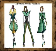 Avatar Collection: Kyoshi warriors by Fashiodesart