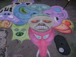Creepy Faces Right side by Chalkarts