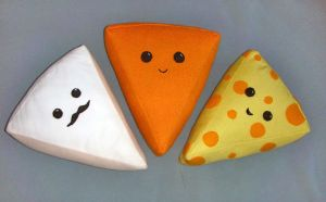 Cheese wedge plushies by elegance-is-refusal