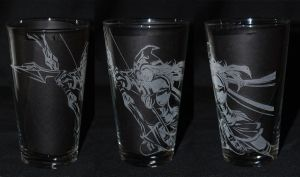 Ashe League of Legends Drinking Glass by Clinkorz