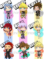 Kingdom Hearts Chibi Set by Konni-chan