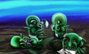 Baby Cthulhus by Bexara