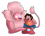 [Steven Universe] Steven and Lion by shujuju
