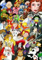 Our cartoon heroes by Zwerg-im-Bikini