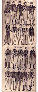 20-s men fashion doodles by Phobs0