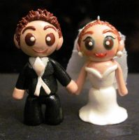 Bride and Groom Wedding Charms by Blazesnbreezes