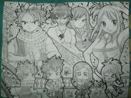 Fairy tail team~~~ by hellen1994