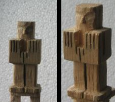 Maya Guard Carving by unreal-hunter